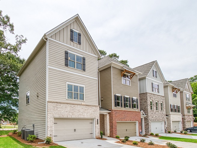 Exterior of townhome