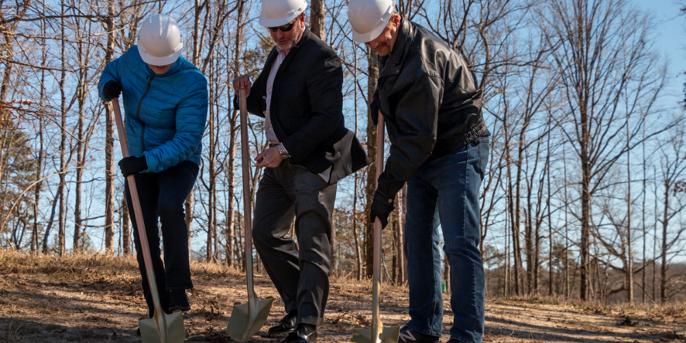 cresswind twin lakes team at clubhouse groundbreaking